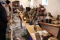 Výstava betlémů a sáněk v Třebešicích nedaleko Divišova.