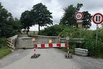 Most u Stupčic je opět průjezdný.