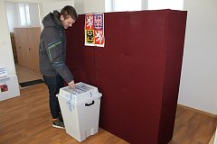 První den druhého kola prezidentských voleb ve Struhařově.
