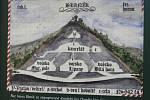 Informační cedule na vrchu Velký Blaník.