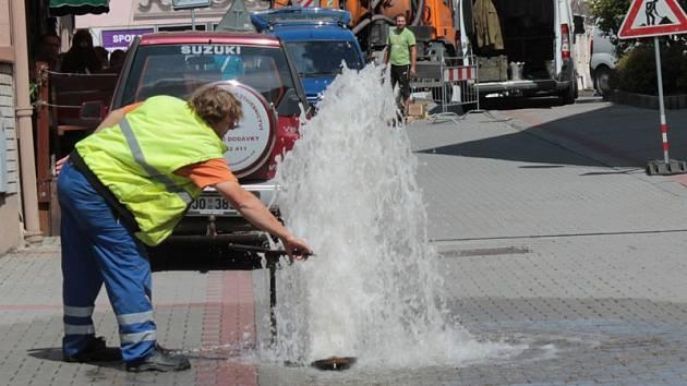 Fontána pro nezakalenou vodu.
