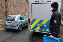 Policejní vyšetřování u Zbořeného Kostelec v pátek 5. března 2021.