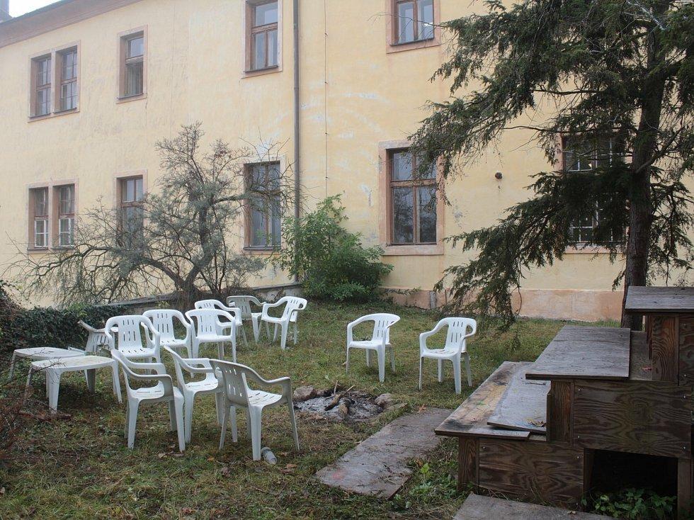 Zahrada piaristické koleje v Benešově.