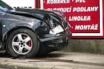 Dopravní nehoda na Červených Vrškách