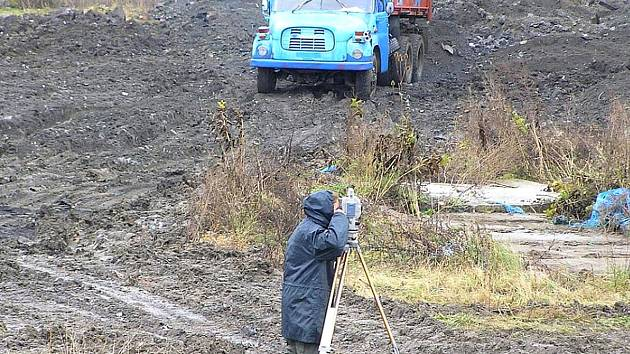 Skládka komunálního odpadu u Přibyšic.