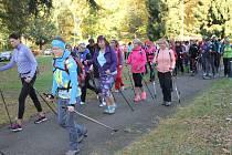 První ročník charitativního Nordic Walking pochodu na Konopišti se tam konal v sobotu 14. října.