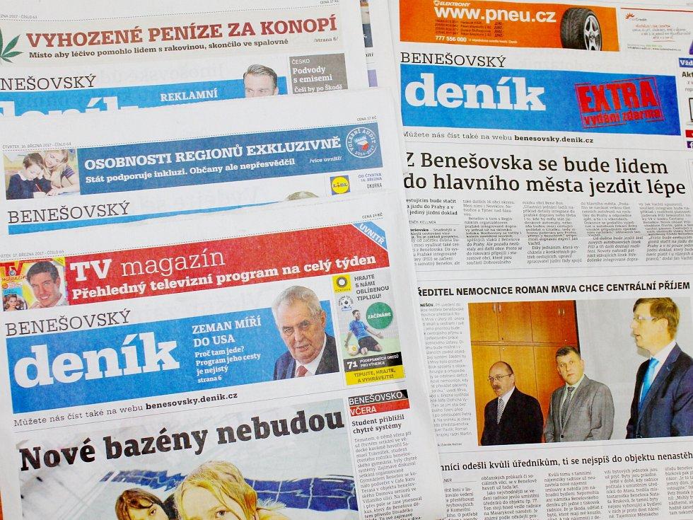 Benešovský deník. Ilustrační foto
