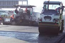 K dopravní nehodě došlo v místě s omezením na opravovaném úseku dálnice D1 před Prahou. Ilustrační foto.