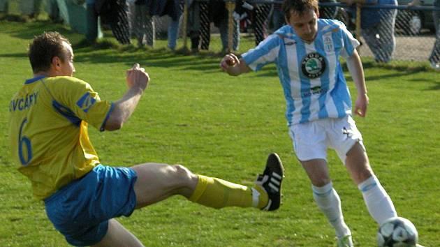Z utkání ČFL: Sokol Ovčáry - FK Ml. Boleslav B (1:2)