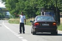 Radošovice a zoufalá gestikulace motoristy s německou značkou
