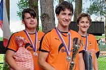 Dorostenci Šacungu Benešov Jan Šperlík, Lukáš Krunert a Lukáš Ziegler přivezli stříbrnou medaili z MČR dvojic, které se konalo v Karlových Varech.