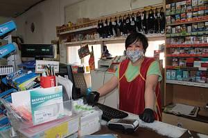 Obchod se smíšeným zbožím v Krhanicích.