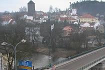 Stará část Týnce nad Sázavou.