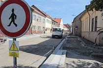 Rekonstrukce Táborské ulice ve Voticích.