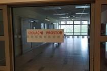 Izolační prostor v příbramské nemocnici.