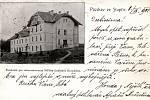Lázně Stupčice na historické pohlednici.