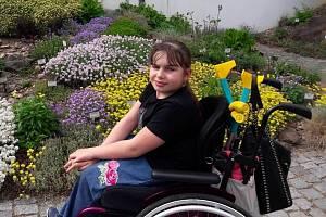 Handicapovaná Kristýnka.
