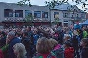 Olympic zaplnil celé náměstí.