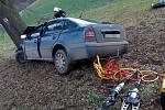 Dopravní nehoda u Neštětic 7. prosince 2019.