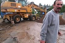 Výstavba kanalizace v osadách Týnce - 16. září 2008