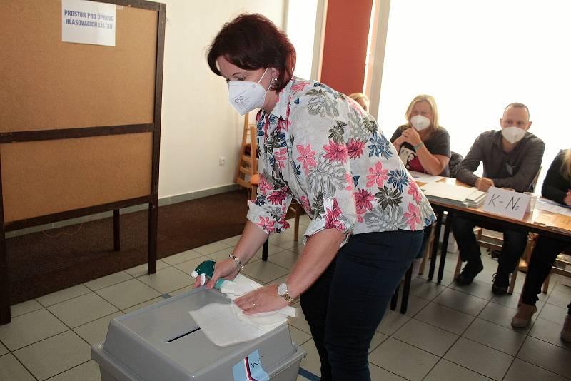 Parlamentní volby v Benešově. Volební okrsek číslo 4.