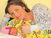 Malá Žofie Väterová zvyšuje od úterý 31. ledna počet obyvatel Buchova. Holčička je dcerou Kateřiny Ogboi a Jana Vätera a po narození ve 21.06 vážila 2850 gramů a měřila 47 centimetrů. Doma na malou sestřičku čekají sourozenci Eliška a Metoděj.