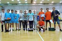 Čtveřice nejlepších na 10. ročníku nohejbalového pohárového klání v Benešově.