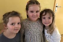 Předškoláci z mateřinky MiniSvět navštívili 1. třídu základní školy.