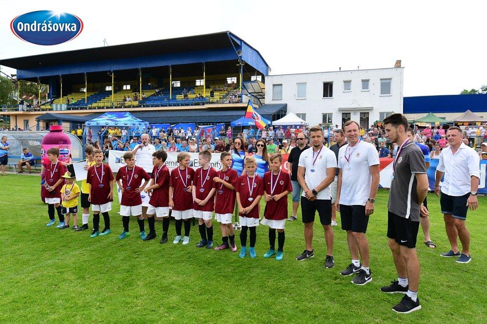 Finále Ondrášovka Cupu pro kategorii do 10 let hostil stadion v Benešově. Vítězná Sparta.