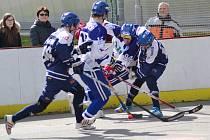 Ve šlágru kola prohráli vlašimští hokejbalisté na samostatná střílení s Kladnem.
