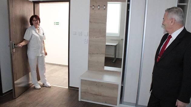 Luxusní ubytovací kapacita Rehabilitačního ústavu v Kladrubech pro movitější klienty.
