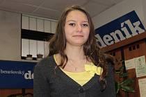 Iveta Filipová z Chmelné na Čechticku potřebuje podporu při hlasování o Miss fotbal.