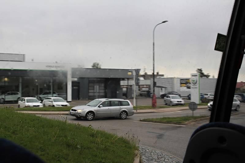 Oranžová linka číslo 1 MHD Benešov.