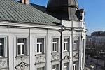 Benešov při pohledu ze střechy kostela sv. Anny - Hotel Pošta.