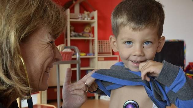 Preventivní zdravotní prohlídka v mateřské škole MiniSvět.