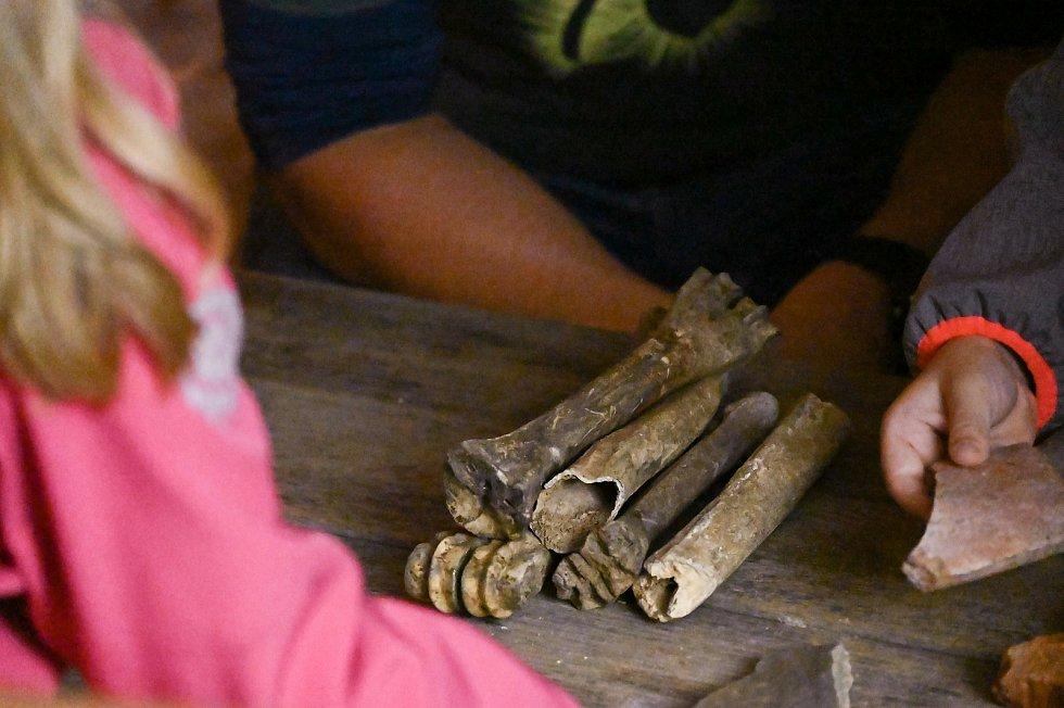 Archeoden v areálu sázavského kláštera.