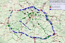 Vize rozvoje páteřní silniční sítě ve středních Čechách.