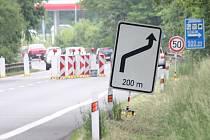Provoz na hlavní silnici I/3 mezi Bystřicí a Jírovicemi je od čtvrtka 2. června vedený ve zúžených pruzích.