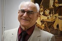 Antonín Brožek starší na své první výstavě ve Vlašimi.