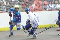 Semifinále extraligy hokejbalu Vlašim - Ústí nad Labem
