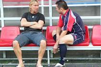 Horst Siegl spolu s prezidentem a sponzorem klubu SK Marila Votice Milanem Šedivým