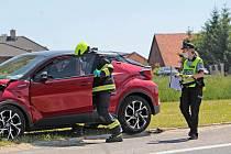 Nehoda u Mrače na silnici I/3 se stala v pátek 4. června před jedenáctou hodinou.