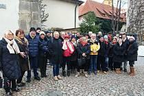 Francouzi ze Sainte-Agnès při návštěvě Benešova.