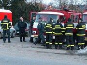 Cvičný požár objektu ve Voticích.