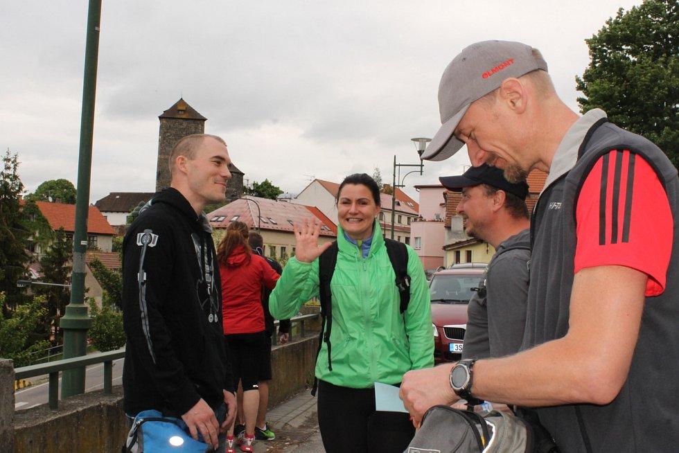Na túru do Prčice se vydala se svými kamarádkami také Katarína Březinová (v zeleném).