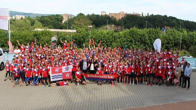 Výprava Středočeského kraje na Olympiádě dětí a mládeže 2019 v Liberci.