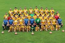 Fotbalisté Divišova, společné foto