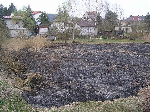 Následky požáru v Peceradech.