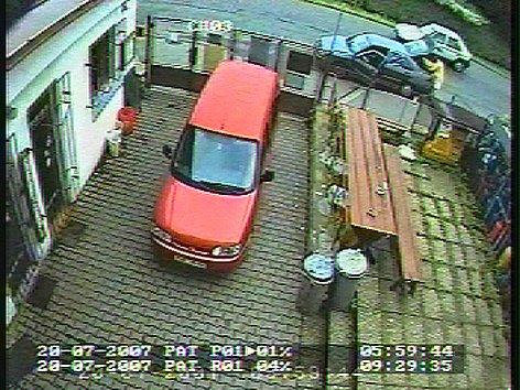 Záběr z průmyslové kamery