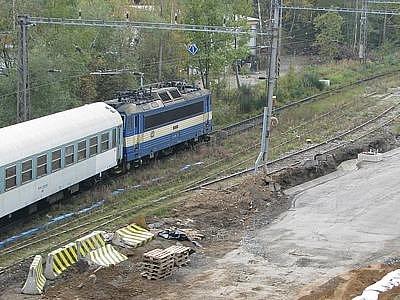 Stavba IV. koridoru v Votic.